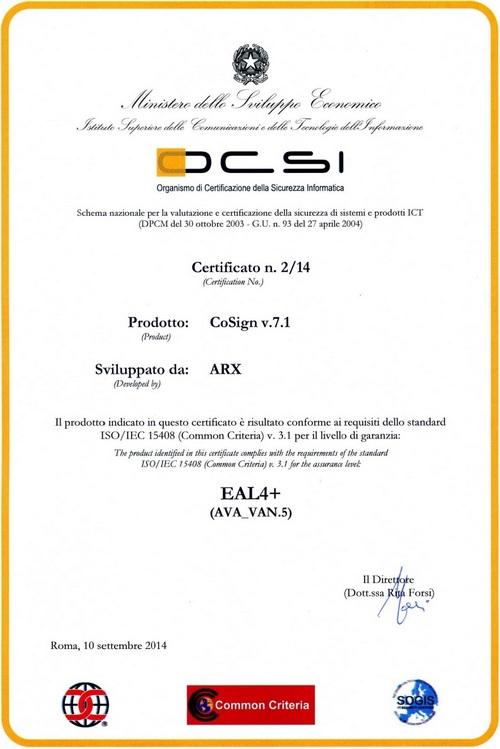 OCSI_Certificato_2_14_CoSign_500